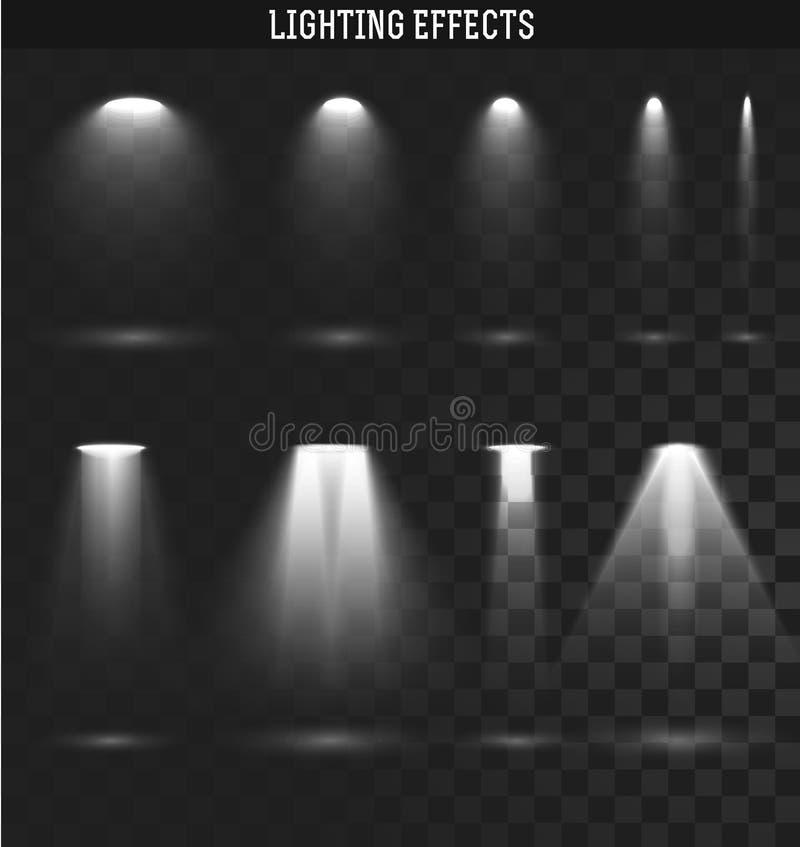 Fissi l'effetto della luce Il SIC si accende Effetto della trasparenza realistico illustrazione vettoriale