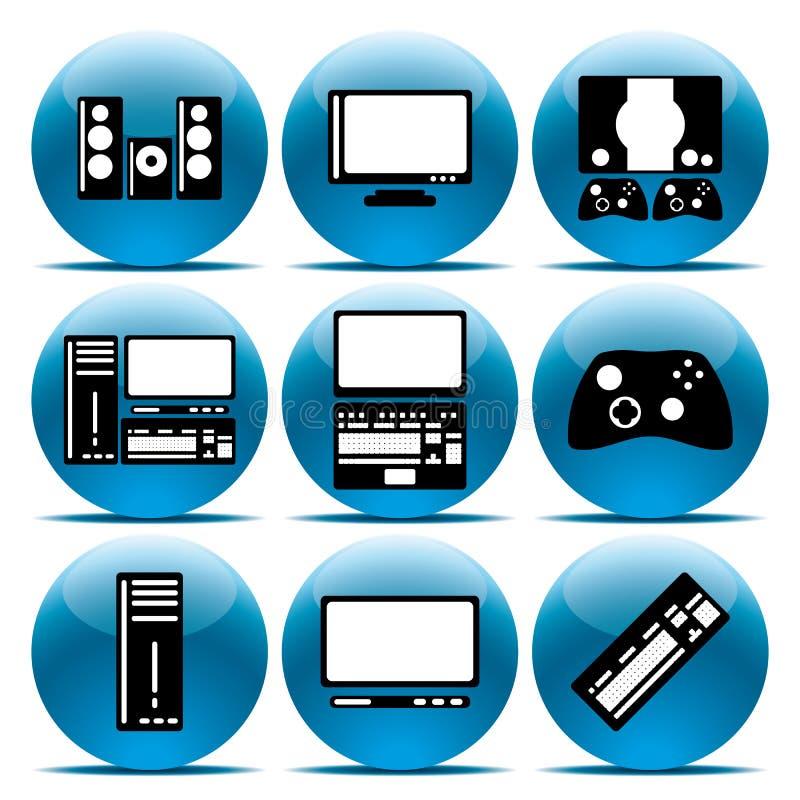 Fissi l'elettronica dell'icona illustrazione vettoriale