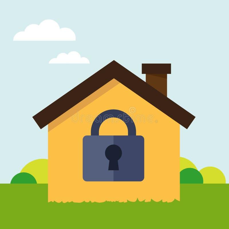 Fissi la casa illustrazione vettoriale illustrazione di for Aprire piani casa concetto