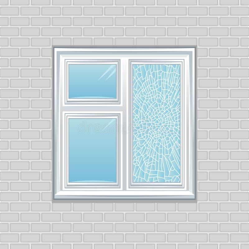 Fissure d'hublot illustration stock