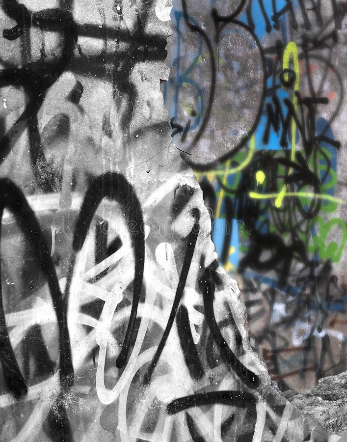 Fissure dans le mur image libre de droits