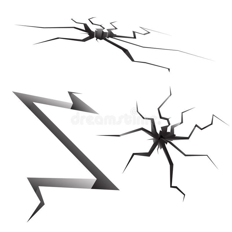 Fissures illustration stock