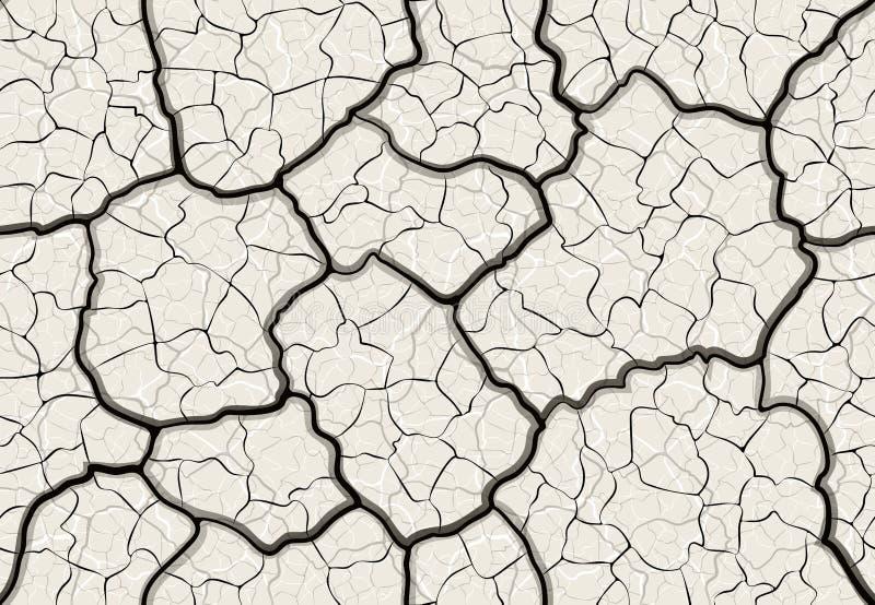 Fissures dans le modèle sans couture au sol illustration de vecteur