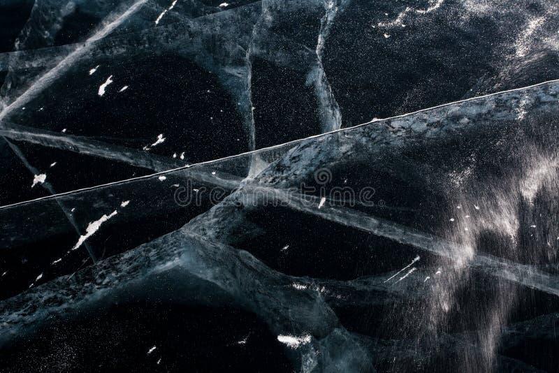 Fissures de glace photographie stock libre de droits