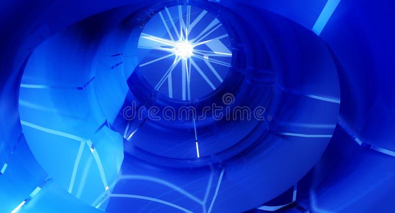 Fissures de tunnel illustration de vecteur