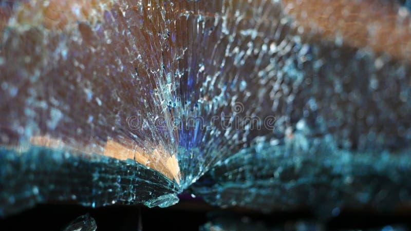 Fissures du verre de voiture image libre de droits