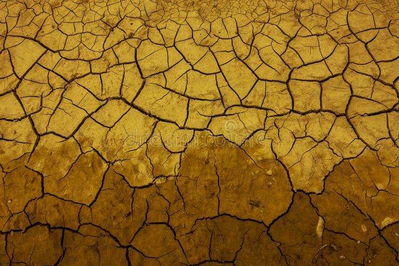 Fissures en terre sèche dans un lac photos libres de droits