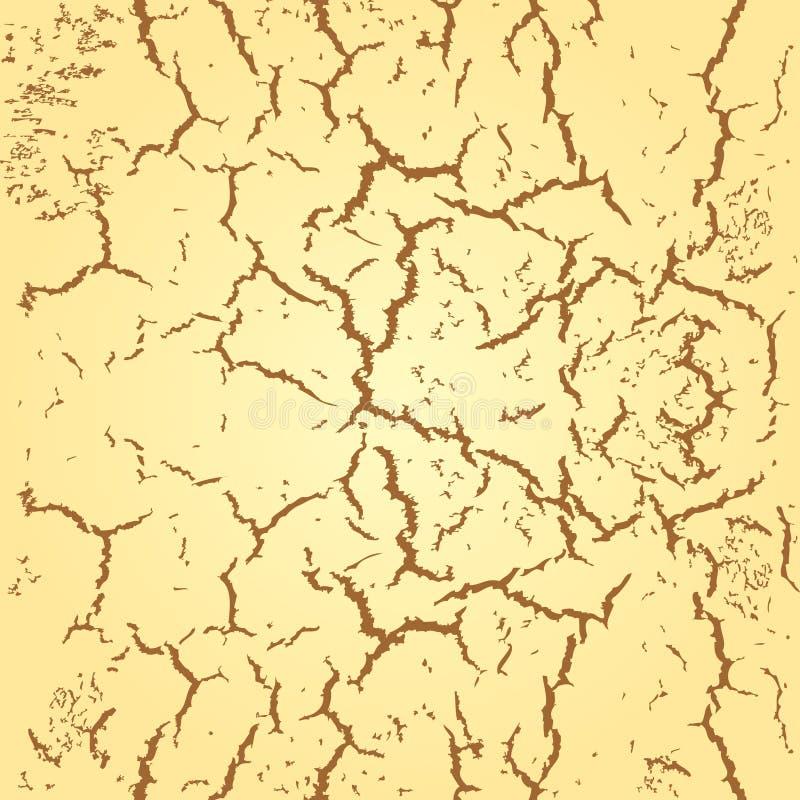 Fissures sans couture abstraites de fond sur le mur ou le sol illustration de vecteur