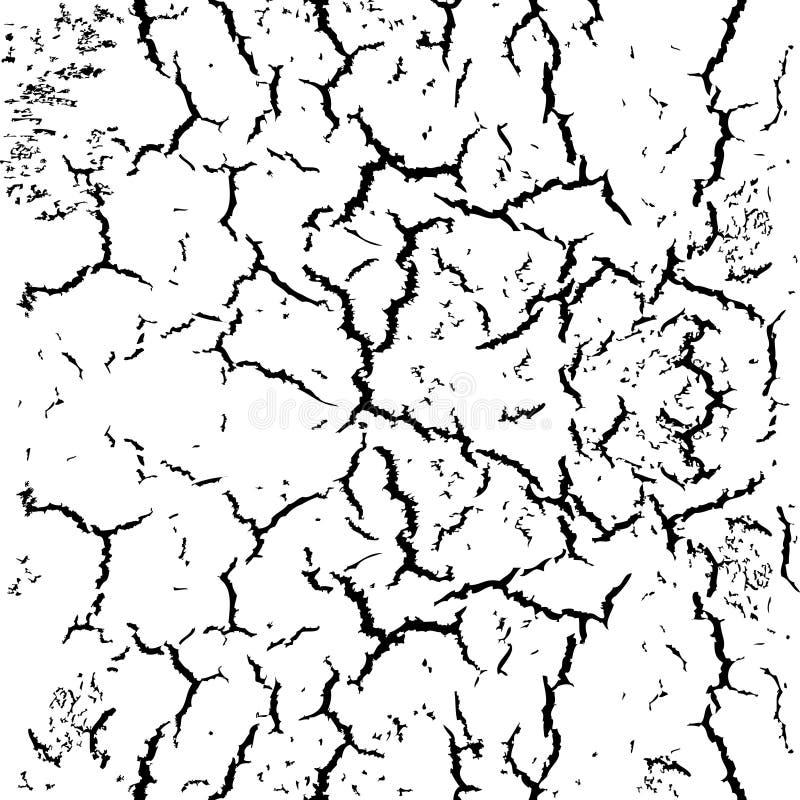 Fissures sans couture abstraites de fond sur le mur ou le sol illustration libre de droits
