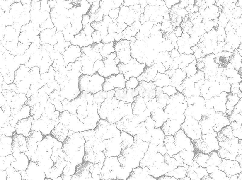 Fissures sur la surface blanche - fond de vecteur illustration de vecteur