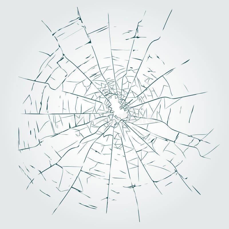 Fissures, vecteur en verre cassé illustration libre de droits
