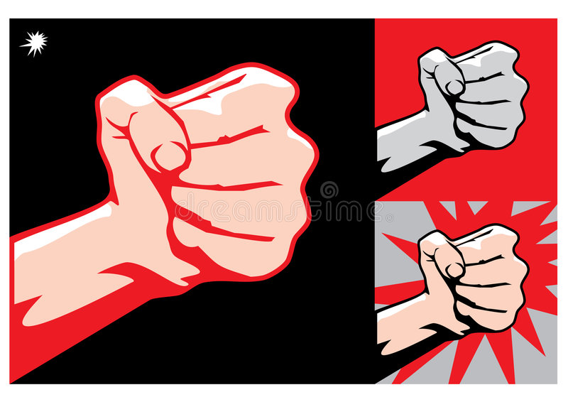 Download Fist stock vector. Image of fight, bouncer, male, fear - 1385891