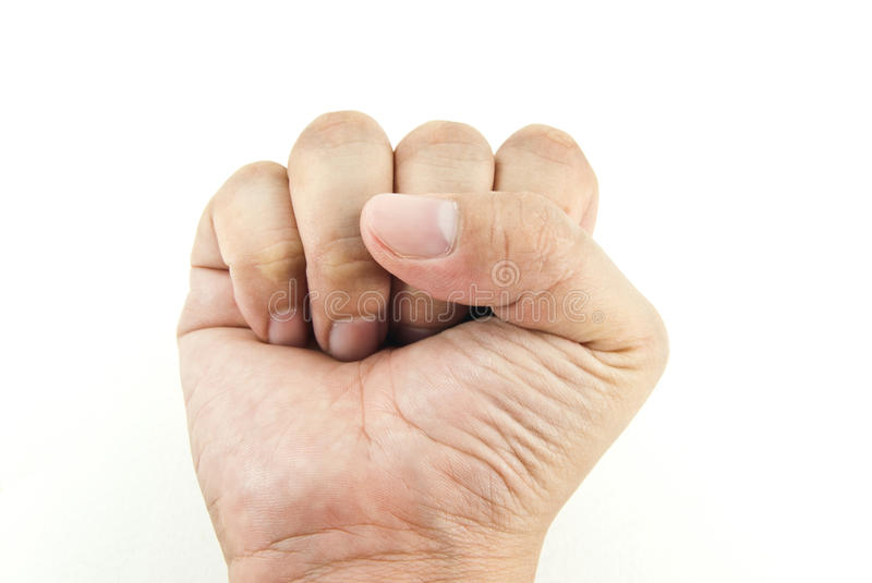 Fist. Gesture of the hand royalty free stock photos