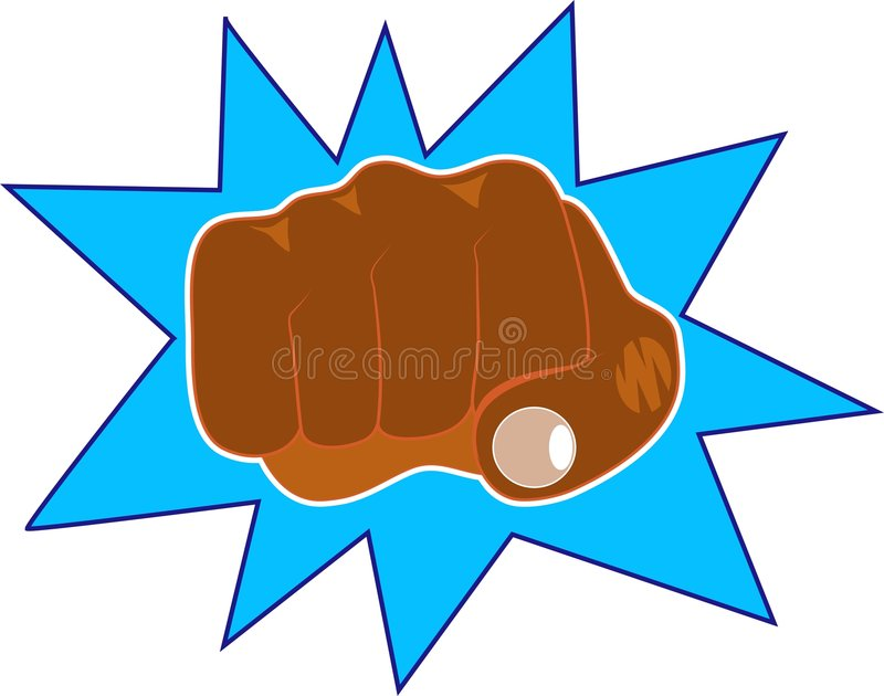 Download Fist stock vector. Illustration of punch, anger, thump, fist - 44102
