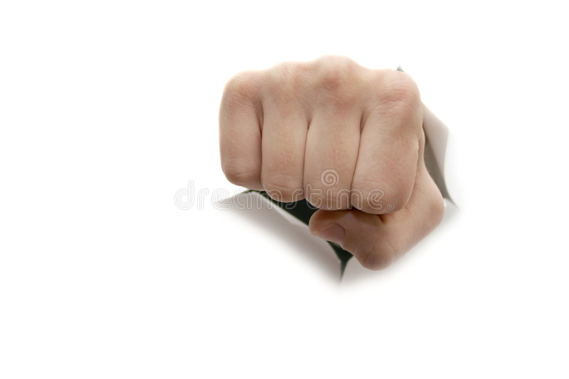 Fist. On white royalty free stock photography