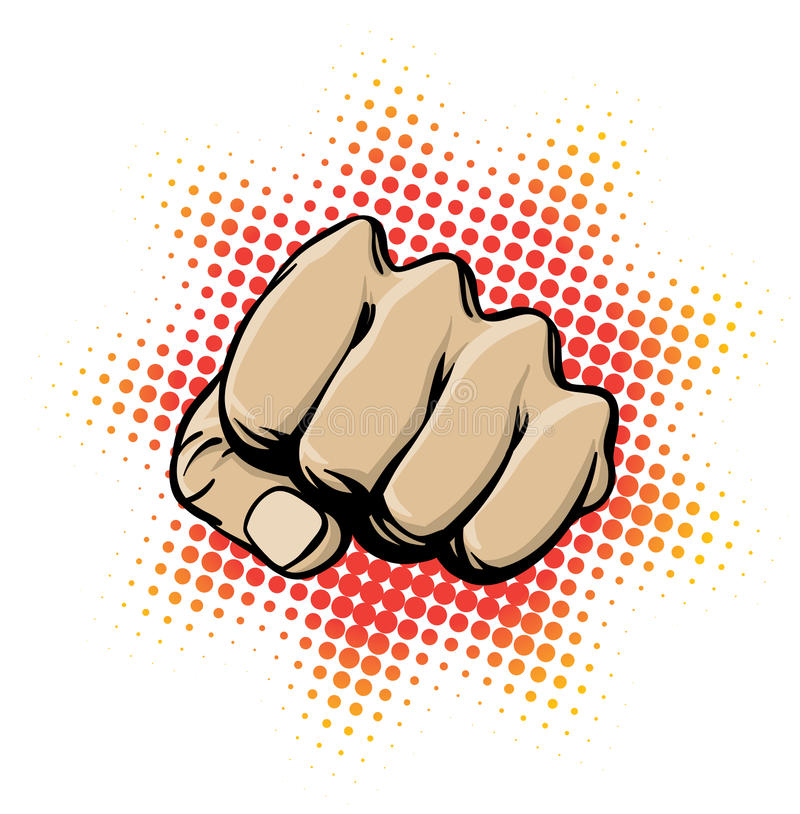 Fist in Action. An illustration of a clenched fist ready to strike