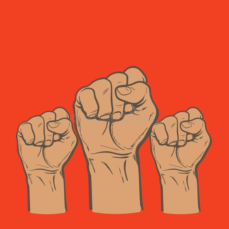 Fist As A Symbol Of Good Luck Strength And Determination Stock