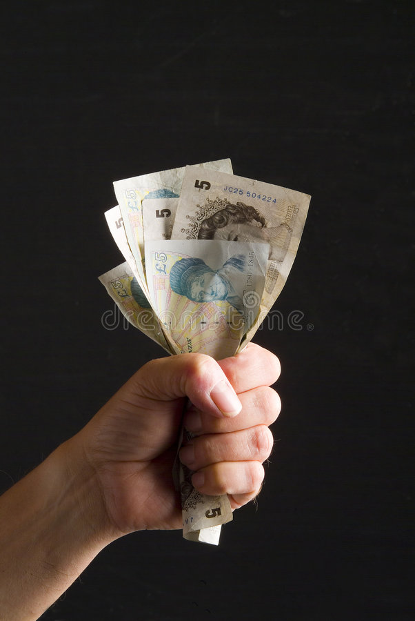 Fist full of fivers royalty free stock images