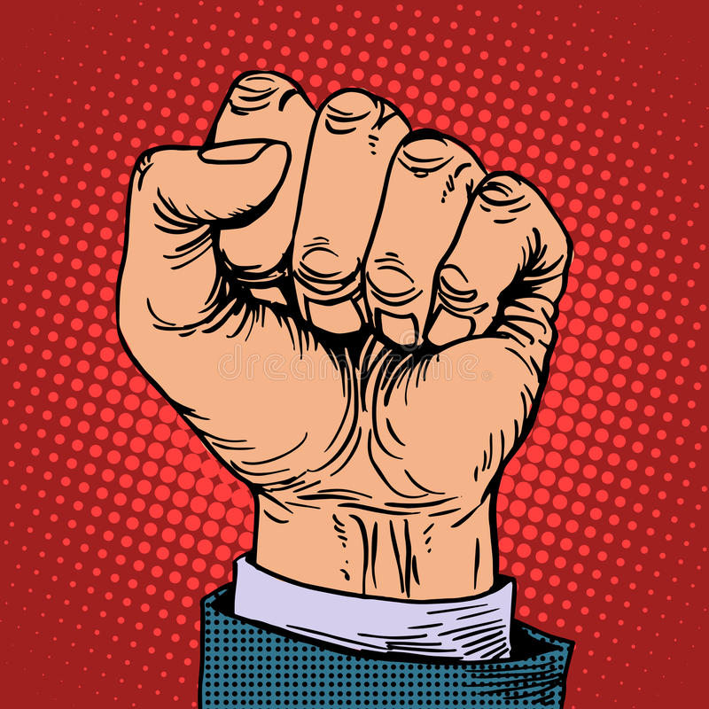 Fist hand business concept royalty free illustration