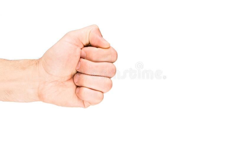 Fist hand isolated. On white background. Body parts royalty free stock images