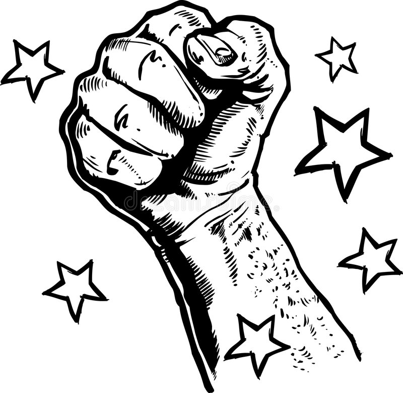 Fist Illustration stock photo