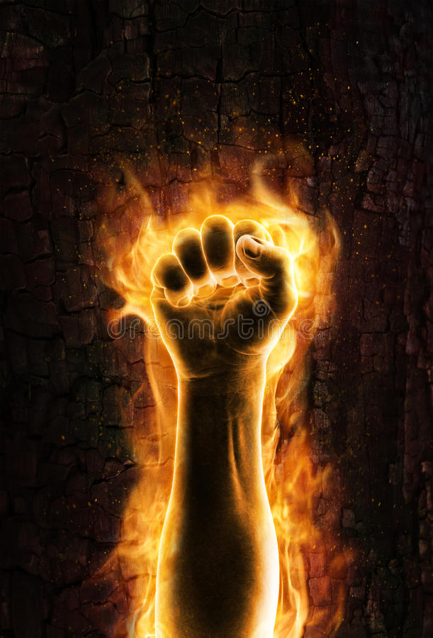 Free Fist Of Fire Royalty Free Stock Photos - 25708738