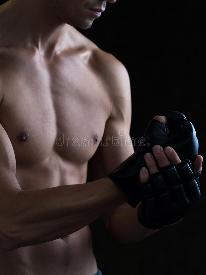 Fist Over Hand Closeup stock images