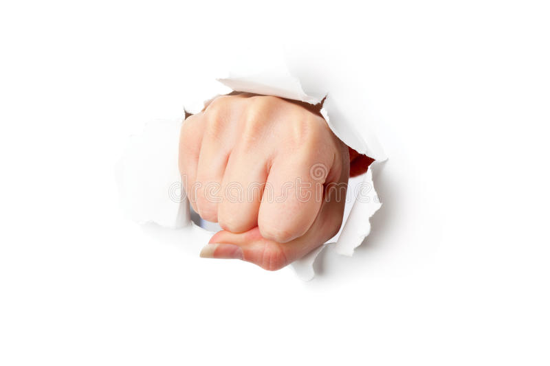 fist from paper stock image. image of concepts, fist - 11696047