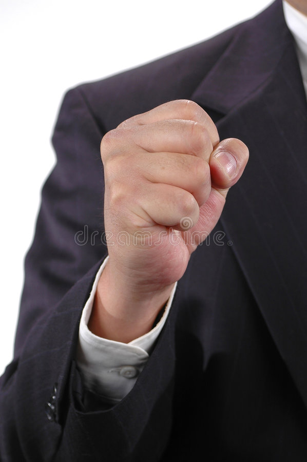 Fist shaking stock photography
