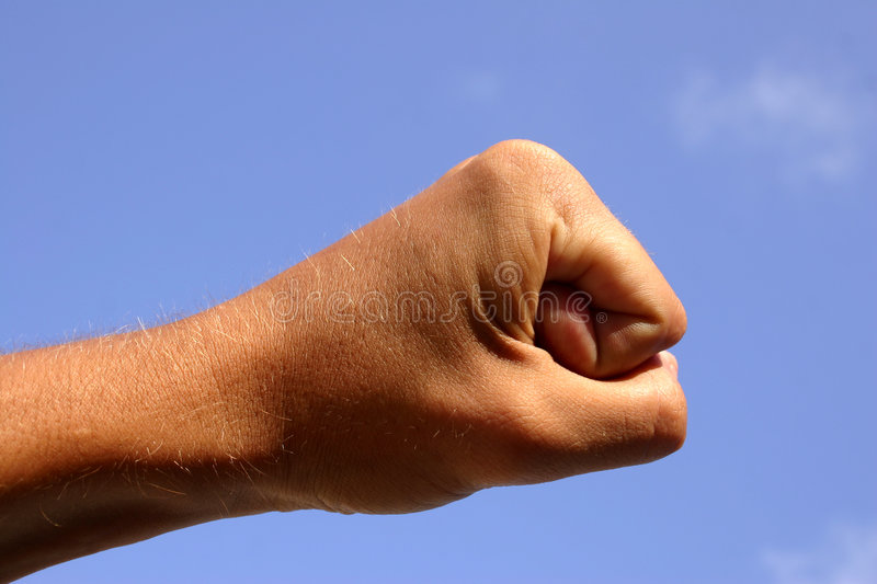 Download Fist And Sky Royalty Free Stock Images - Image: 181899