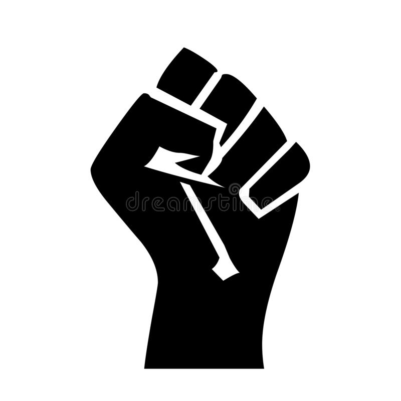 Fist symbol icon illustration. With a white background vector illustration