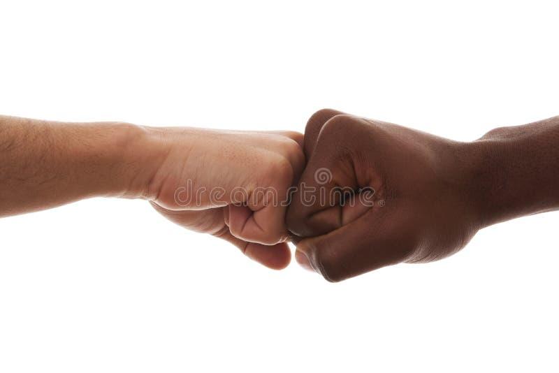 Fist to Fist stock photo