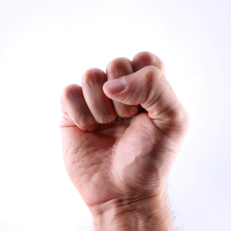 Fist. A fist on a white background stock photography