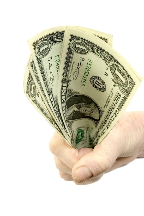 Download Fistful dos dólares imagem de stock. Imagem de mão, shopping - 106765