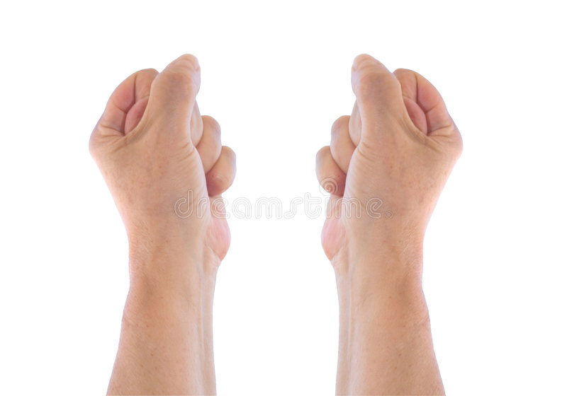 Fists. Isolated over a white background stock photography