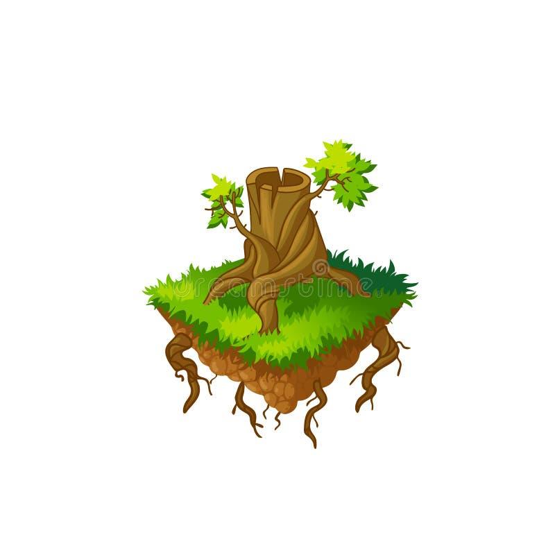 Fiszorek, powalać drzewa Odizolowywający ilustracji