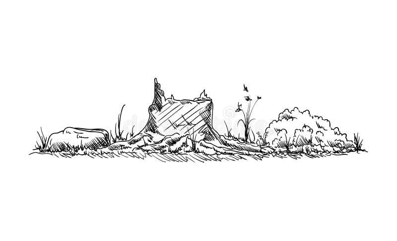 Fiszorek przy naturą royalty ilustracja