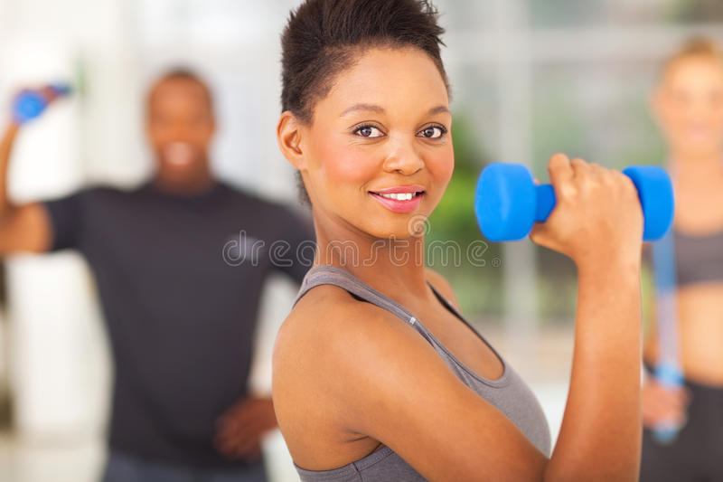 Fit african woman royalty free stock photo
