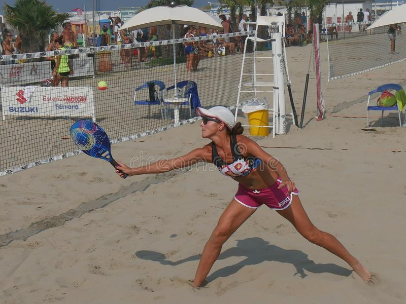 Beach Tennis DF II category 24 August 2019 stock images