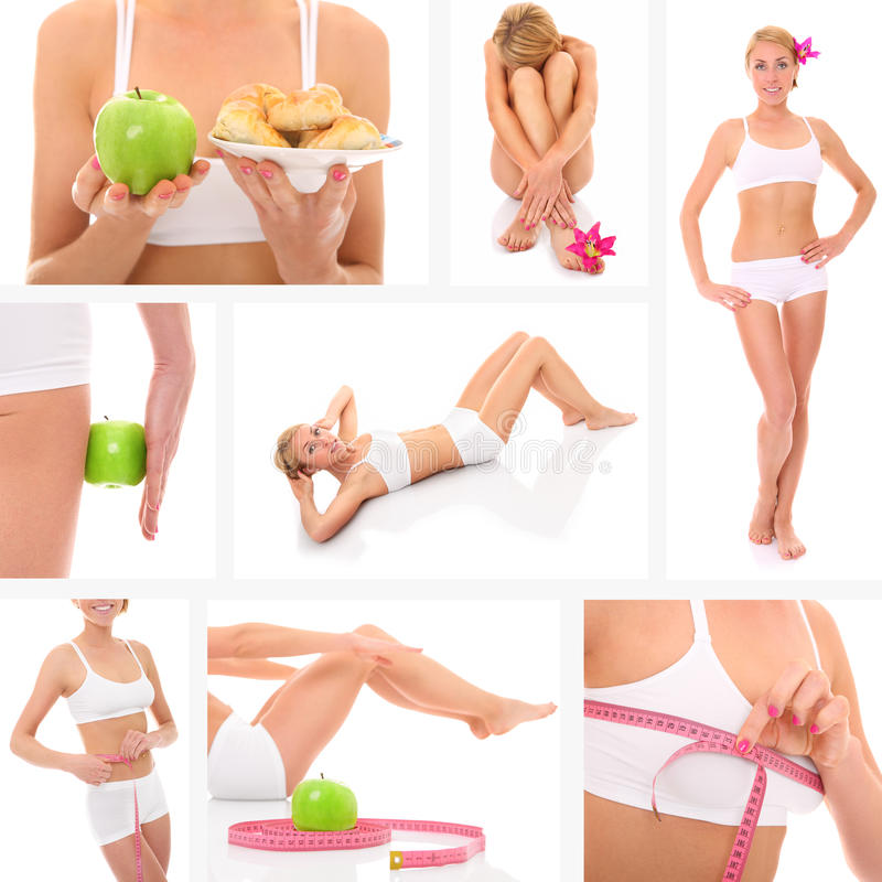 Fit collage royaltyfri foto