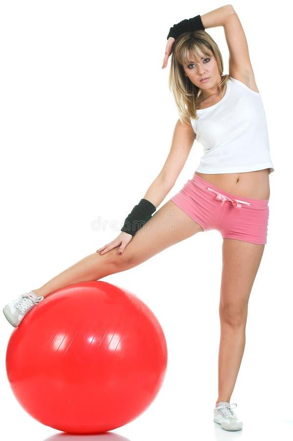 fit flickasträckning för boll royaltyfri bild