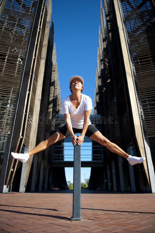Download Fit And Healthy Mature Woman Jumping I Stock Image - Image: 23797221