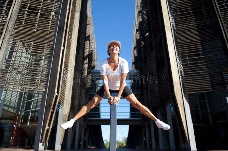 Fit and healthy mature woman jumping II