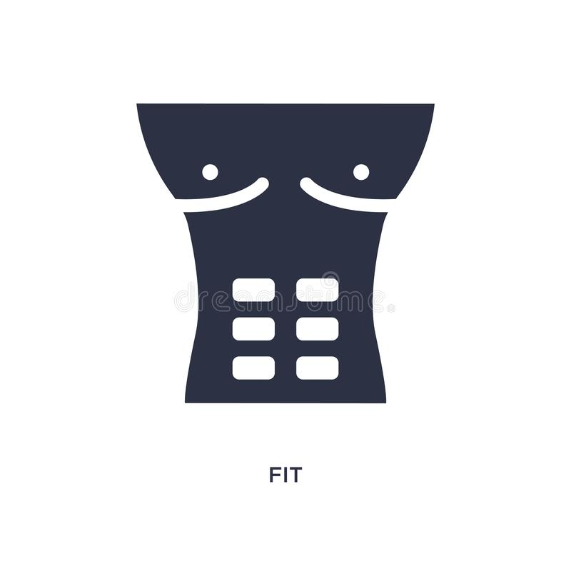 fit icon on white background. Simple element illustration from medical concept royalty free illustration