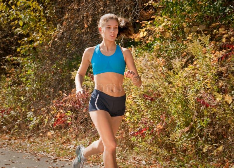 fit löparekvinna arkivbilder
