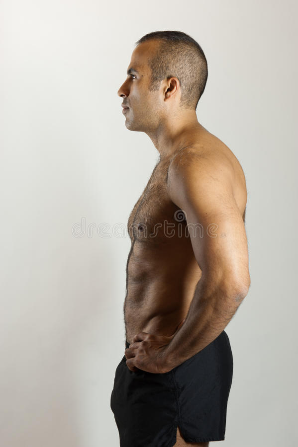 Download Fit Latin Guy in Profile stock photo. Image of athletic - 23289456
