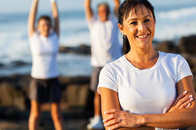 Fit middle aged woman stock photo