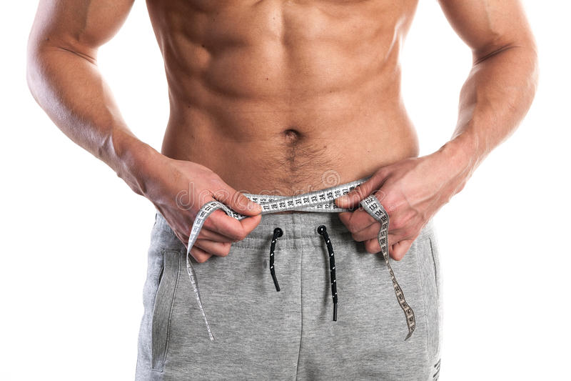 Fit, muscular male body stock images