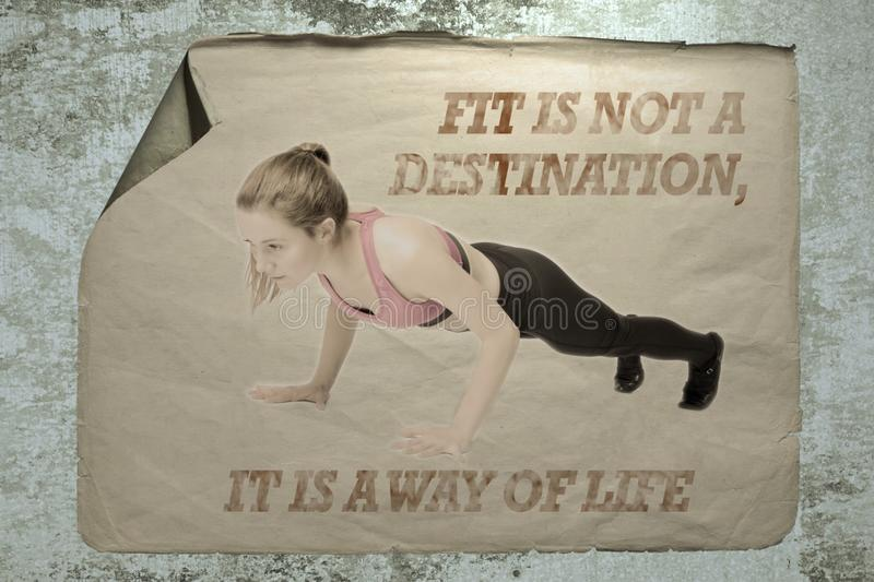 Fit is not a destination it is a way of life royalty free stock photo