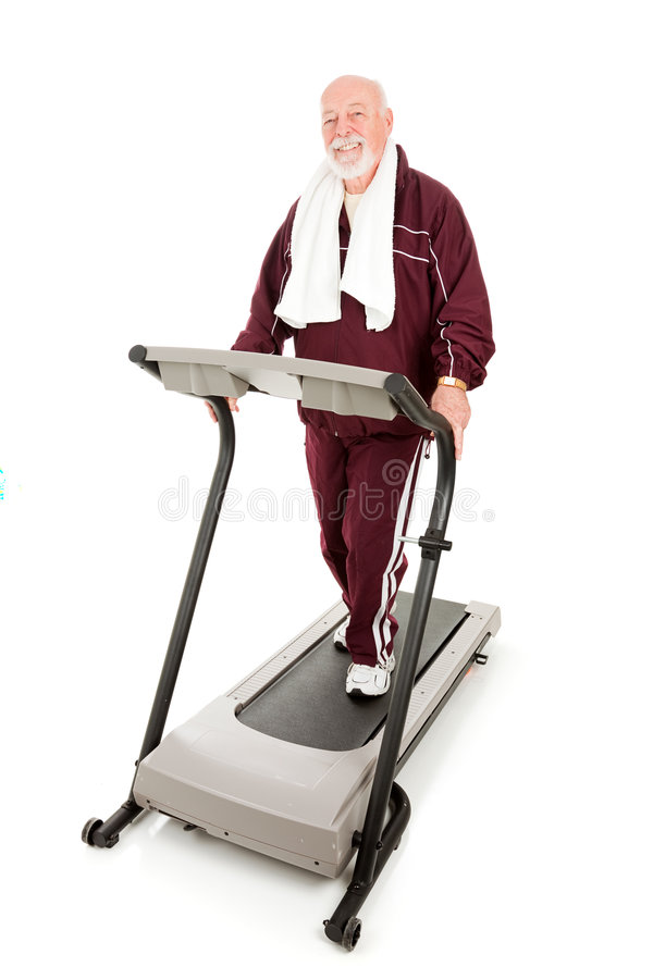 Download Fit Senior Man On Treadmill Stock Images - Image: 8726084